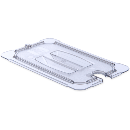 10291U07 - StorPlus™ Univ Lid - Food Pan PC Handled Notched 1/4 Size - Clear