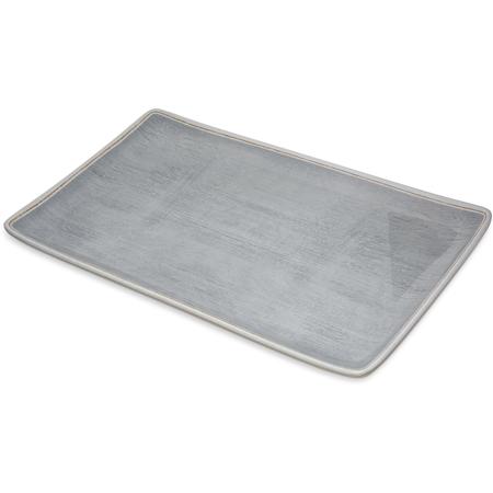 "6401518 - Grove Melamine Rectangle Platter Tray 15"" x 9"" - Smoke"