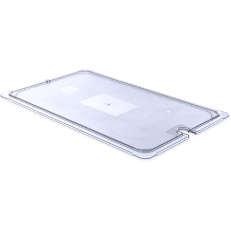 10217U07 - StorPlus™ Univ Lid - Food Pan PC Flat Notched Full Size - Clear