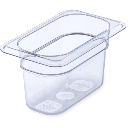 "3068707 - StorPlus™ Food Pan PC 4"" DP 1/9 Size - Clear"