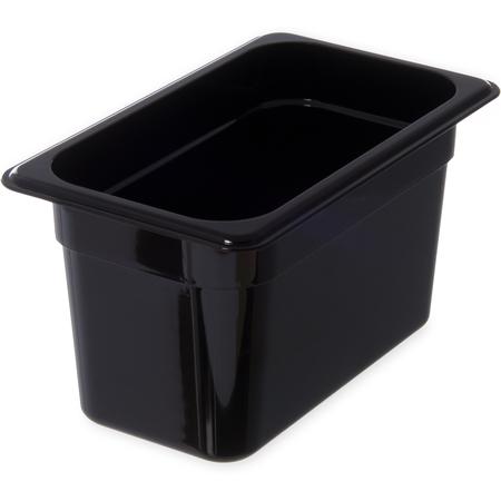 """3068203 - StorPlus™ Food Pan PC 6"""" DP 1/4 Size - Black"""