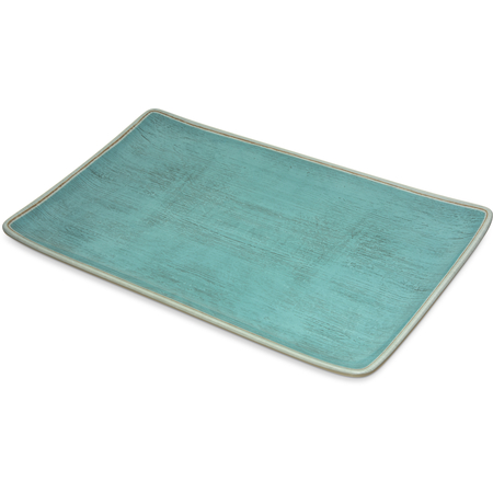 "6401515 - Grove Melamine Rectangle Platter Tray 15"" x 9"" - Aqua"