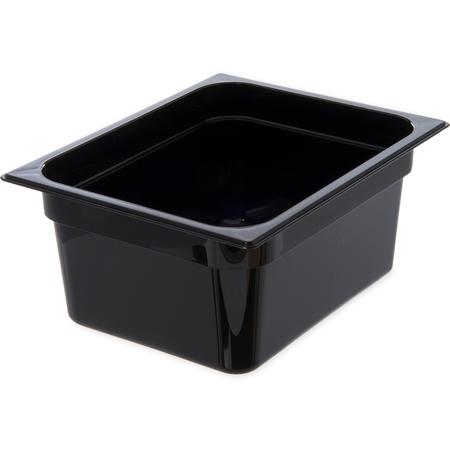 """10222B03 - StorPlus™ Food Pan PC 6"""" DP 1/2 Size - Black"""
