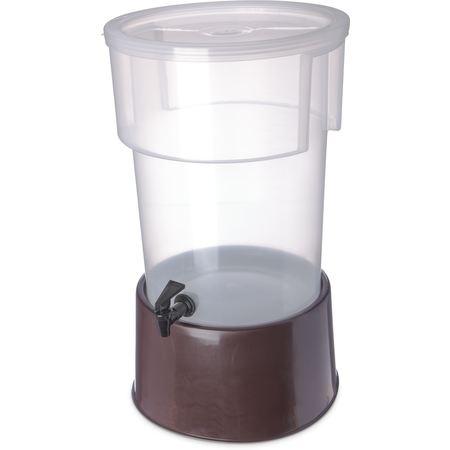 222901 - Round Dispenser w/Base 5 gal - Brown