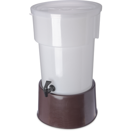 223001 - Round Dispenser w/Base 5 gal - Brown