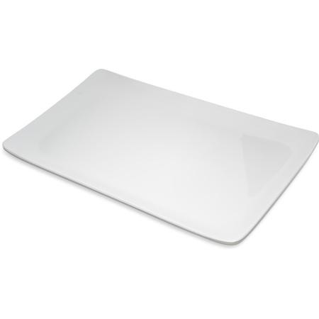"""6401502 - Grove Melamine Rectangle Platter Tray 15"""" x 9"""" - off white"""