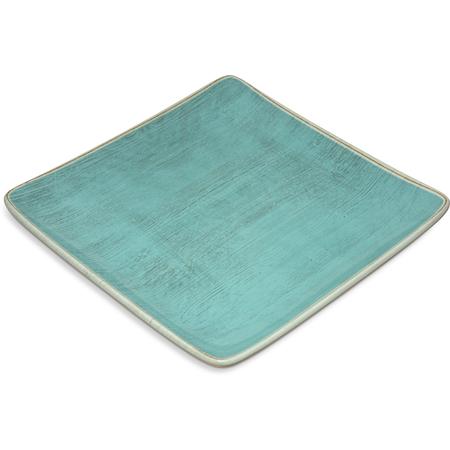 """6400915 - Grove Melamine Square Plate 9"""" - Aqua"""