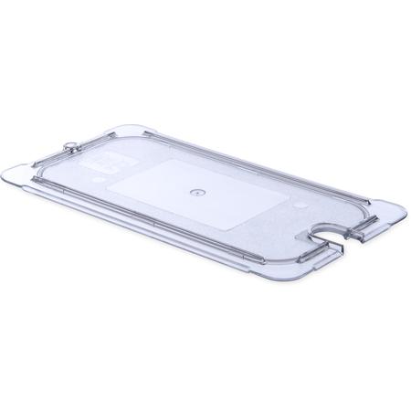 10277U07 - StorPlus™ Univ Lid - Food Pan PC Flat Notched 1/3 Size - Clear