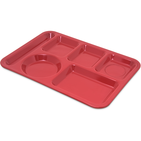 4398005 - Left-Hand Heavy Weight 6-Compartment Tray - Red