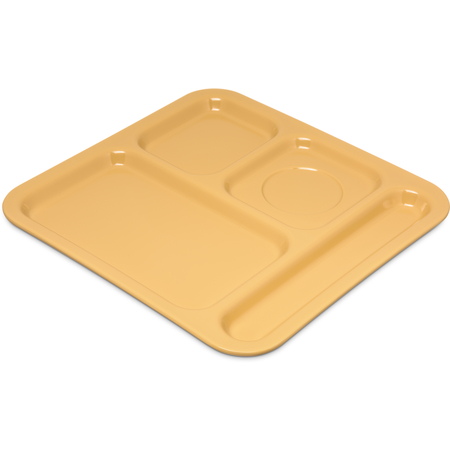"4398422 - 4-Compartment Tray 10-1/8"", 9-25/32"", 1/2"" - Honey Yellow"