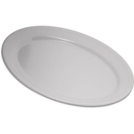 """4356002 - Dallas Ware® Melamine Oval Platter Tray 12"""" x 8.5"""" - White"""