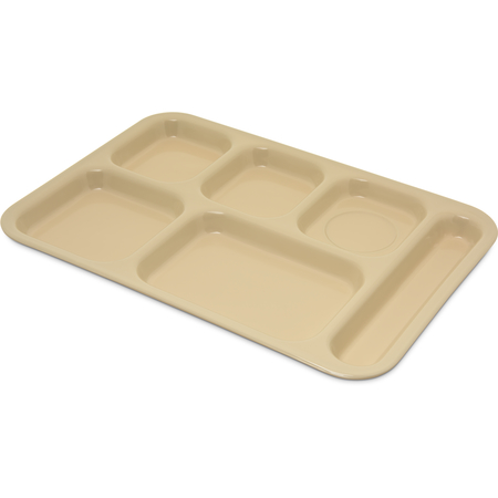 """4398825 - Tray 6 Compartment Right Hand 14.5"""" x 10"""" - Tan"""
