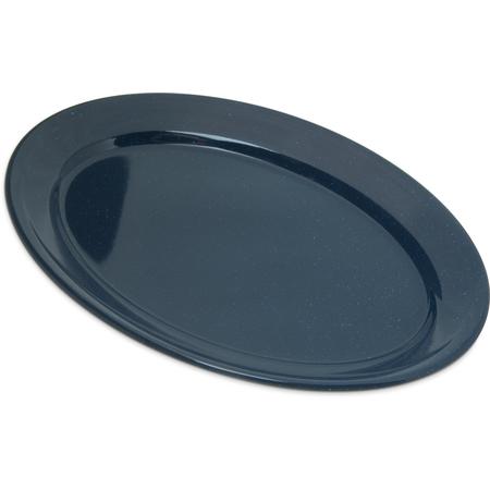 "4356035 - Dallas Ware® Melamine Oval Platter Tray 12"" x 8.5"" - Café Blue"