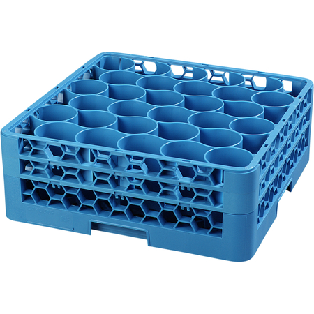 RW30-114 - OptiClean™ NeWave™ Glass Rack with Two Extenders 30 Compartment - Carlisle Blue
