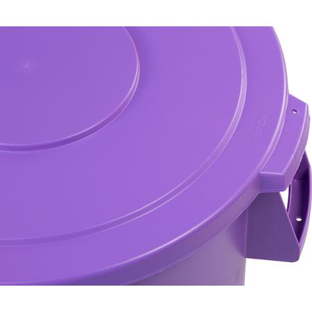 34104589 - Bronco™ Round Waste Bin Trash Container Lid 44 Gallon - Purple