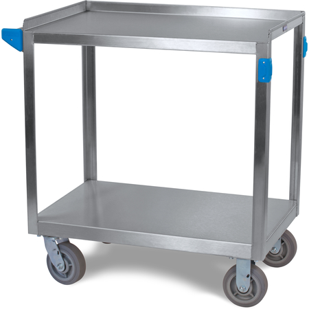 """UC7022133 - 2 Shelf Stainless Steel Utility Cart 700 lb Capacity 21""""W x 33""""L - Stainless Steel"""
