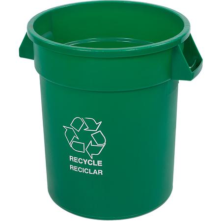 341020REC09 - Bronco™ Round RECYCLE Container 20 Gallon - Green