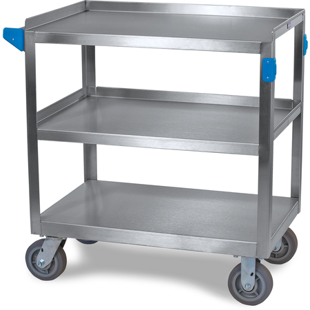 "UC7032133 - 3 Shelf Stainless Steel Utility Cart 700 lb Capacity 21"" W x  33""L - Stainless Steel"