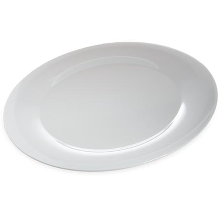 """4440602 - Designer Displayware™ Wide Rim Round Platter 19"""" - White"""