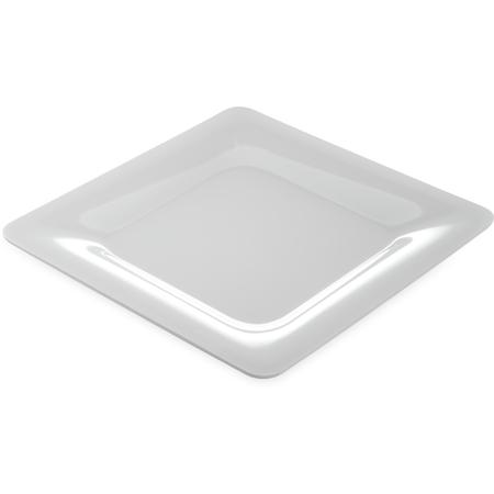 """4440002 - Designer Displayware™ Wide Rim Square Plate 12"""" - White"""