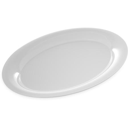 "4441002 - Designer Displayware™ Wide Rim Oval Platter 17"" x 13"" - White"