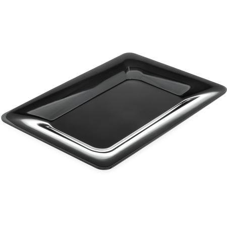 "4441403 - Designer Displayware™ Wide Rim Rectangle Platter 14"" x 10"" - Black"