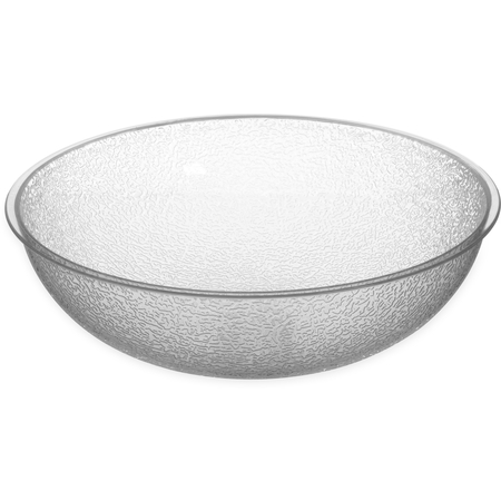 721207 - Round Pebbled Bowl 5.5 qt - Clear