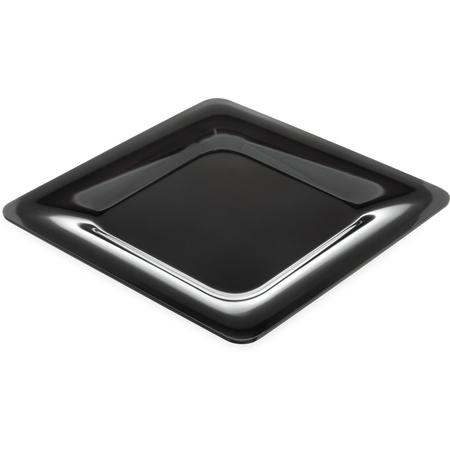 "4440003 - Designer Displayware™ Wide Rim Square Plate 12"" - Black"