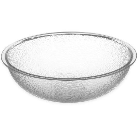 721807 - Round Pebbled Bowl 18 qt - Clear