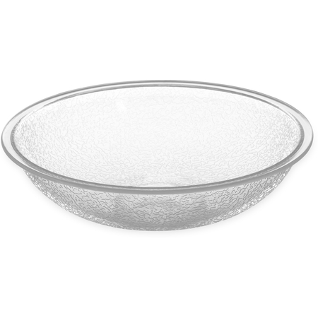 720607 - Round Pebbled Bowl 19.2 oz - Clear