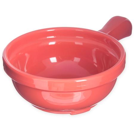 """700652 - Handled Soup Bowl 8 oz, 4-5/8"""" - Sunset Orange"""