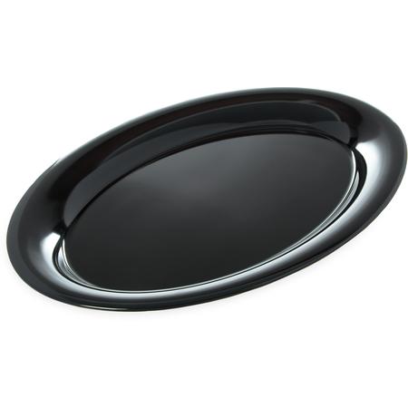 """4441203 - Designer Displayware™ Wide Rim Oval Platter 21"""" x 15"""" - Black"""