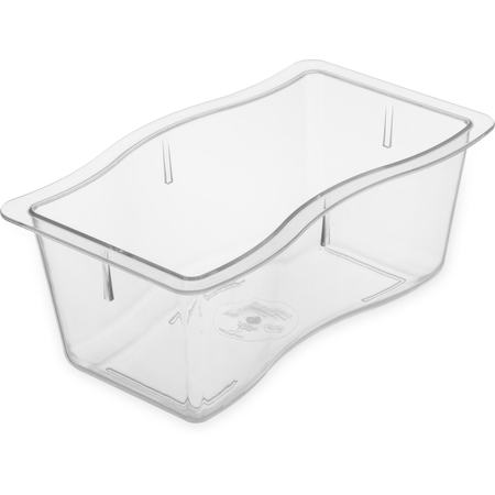 "6984407 - Modular Displayware Half Size Pan 4"" Deep - Clear"