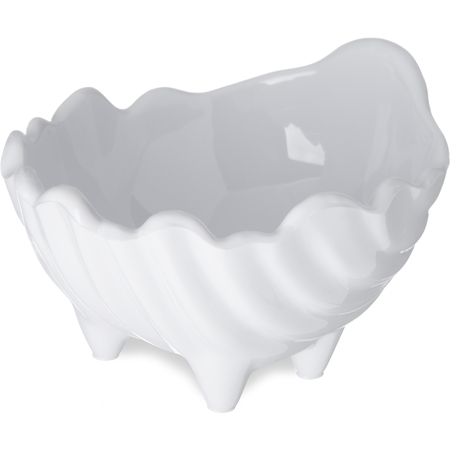 033802 - SAN Sea Shell Scalloped Sauce Cup Ramekin 2 oz - White