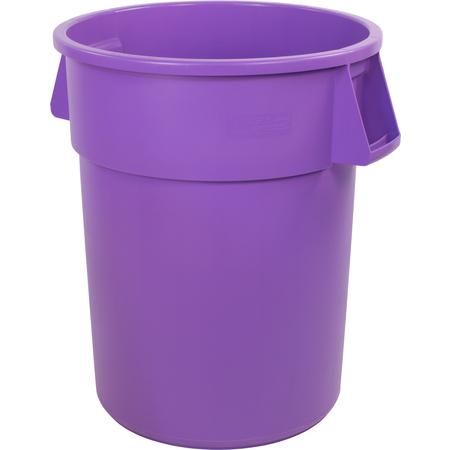 34104489 - Bronco™ Round Waste Bin Trash Container 44 Gallon - Purple