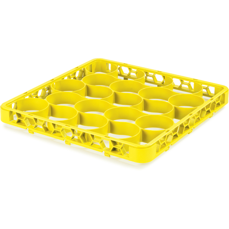REW20SC04 - OptiClean™ NeWave™ Color-Coded Short Glass Rack Extender 20 Compartment - Yellow