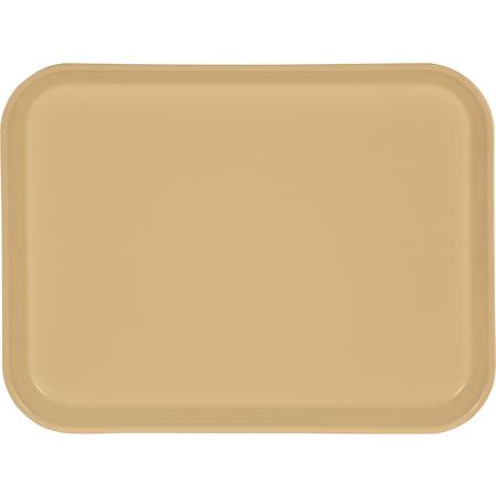 "1410FG095 - Glasteel™ Solid Rectangular Tray 13.75"" x 10.6"" - Almond"
