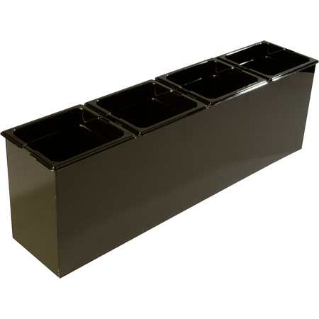 """1080603 - Tall Condiment Food Station 25.25"""" x 6.5"""" x 8.75"""" (LxWxH) - Black"""