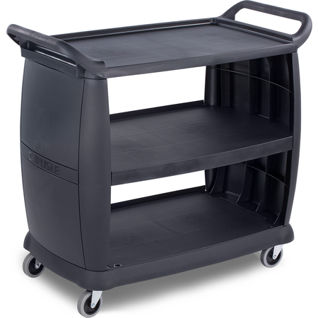 """CC224303 - Large Bussing and Transport Cart 42"""" x 23"""" - Black"""