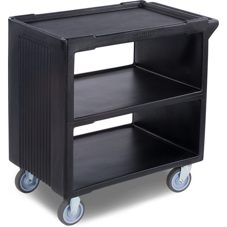 "SBC23003 - Service Cart with 2 Fixed Casters, 2 Swivel Casters, 1 w/Brake 33"" x 20"" - Black"