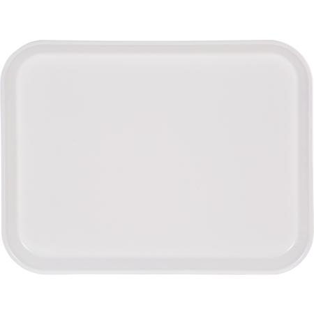 "1410FG001 - Glasteel™ Solid Rectangular Tray 13.75"" x 10.6"" - Bone White"