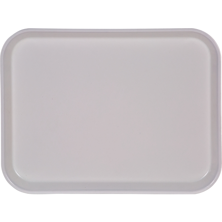 "1410FG002 - Glasteel™ Solid Rectangular Tray 13.75"" x 10.6"" - Smoke Gray"