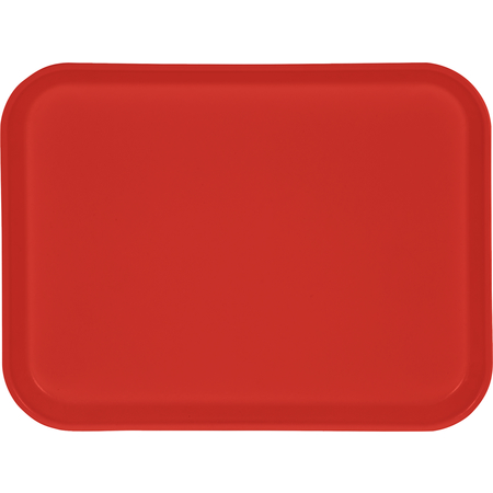 "1410FG020 - Glasteel™ Solid Rectangular Tray 13.75"" x 10.6"" - Coral"