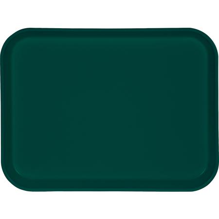"1410FG051 - Glasteel™ Solid Rectangular Tray 13.75"" x 10.6"" - Teal"