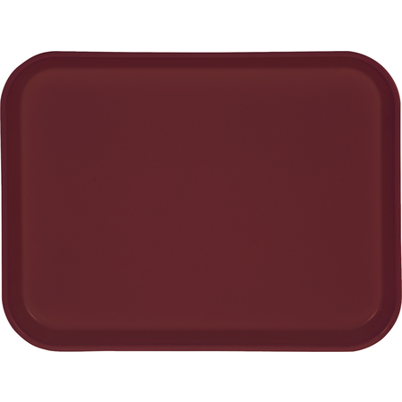 """1410FG054 - Glasteel™ Solid Rectangular Tray 13.75"""" x 10.6"""" - Mulberry"""
