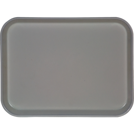 "1410FG068 - Glasteel™ Solid Rectangular Tray 13.75"" x 10.6"" - Gray"