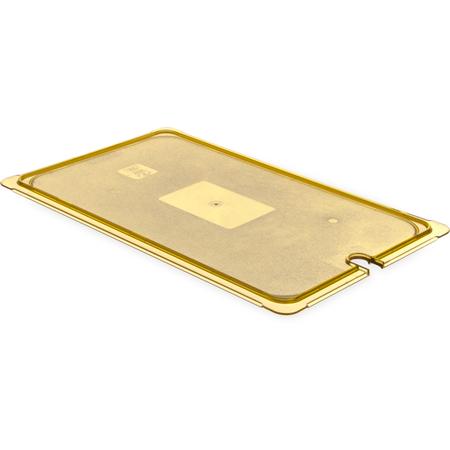 10417U13 - StorPlus™ Univ Lid - Food Pan HH Flat Notched Full Size - Amber
