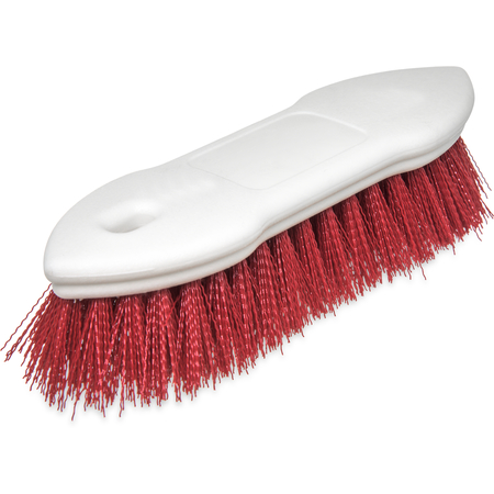 """4549405 - Spectrum® Pointed End Scrub Brush 8"""" - Red"""