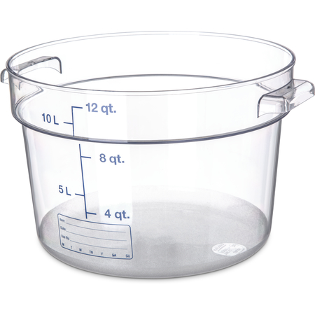 1076707 - StorPlus™ Polycarbonate Round Food Storage Container 12 qt - Clear