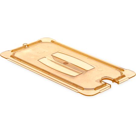 10471U13 - StorPlus™ Univ Lid - Food Pan HH Handled Notched 1/3 Size - Amber